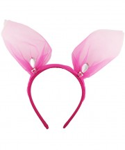 mini bunny ears_shocking pink