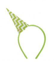 Chevron Party Hat - Kiwi