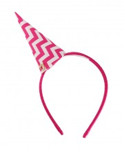 Chevron Party Hat - Pink