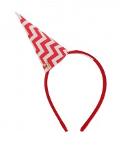 Chevron Party Hat - Red