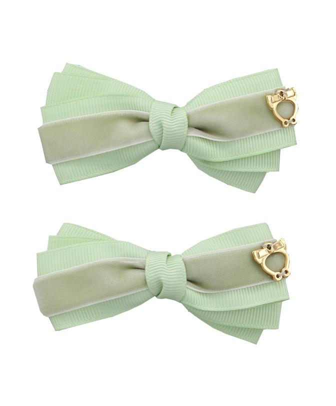 200b8ff1c446 Baby Bow Clips Large - Olive Grey - Sereni & Shentel
