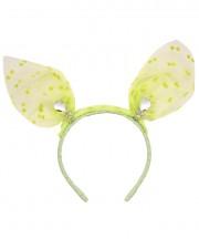 Baby Mini Bunny Ears Polka - Mint