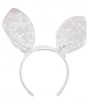 Baby Mini Bunny Ears Polka - Off White