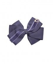 Baby Bow Clip Extra Large - Charcoal