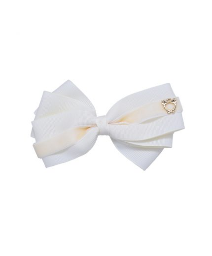 Baby Bow Clip Extra Large - Cream