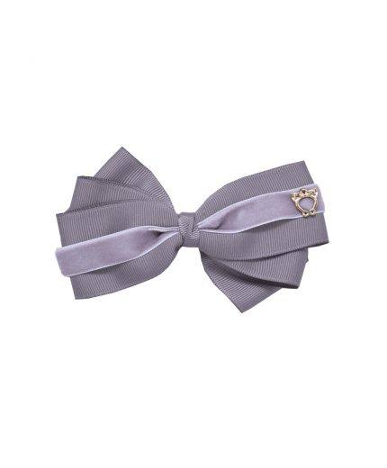 Baby Bow Clip Extra Large - Metal Grey