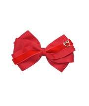 Baby Bow Clip Extra Large - Popppy Red