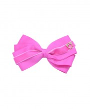 Baby Bow Clip Extra Large - Raspberry Rose