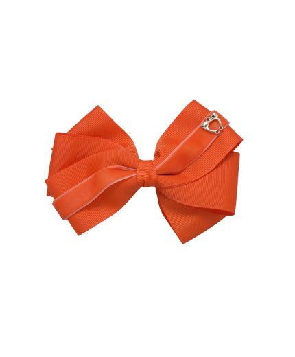 Baby Bow Clip Extra Large - Russet Orange