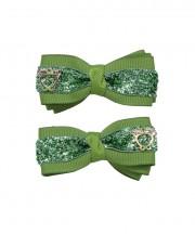 Bow Clips (m) - Kiwi Sparkle