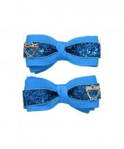 Bow Clips (m) - Methyl Blue Sparkle