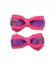 Bow Clips (m) - Pink SParkle