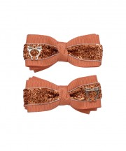Bow Clips (m) - Tangerine Sparkle
