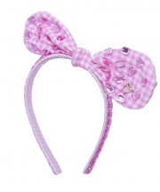 Adult Fancy Bunny Bow - Light Pink