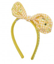 Adult Fancy Bunny Bow - Yellow