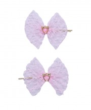 Baby Birdcage Hair Grip - Light Pink