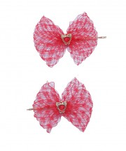 Baby Birdcage Hair Grip - Red