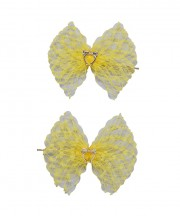 Baby Birdcage Hair Grip - Yellow