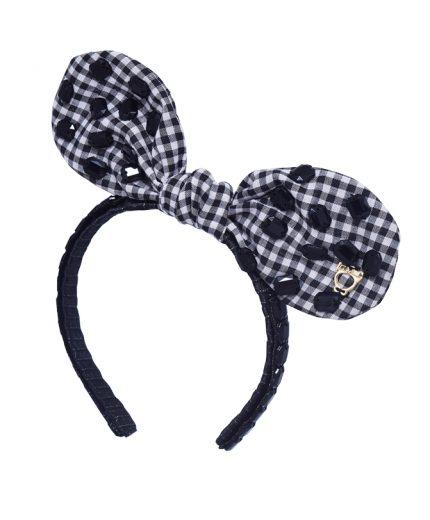 Baby Fancy Bunny Bow - Black