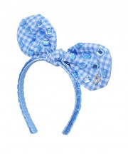 Baby Fancy Bunny Bow - Bluebird