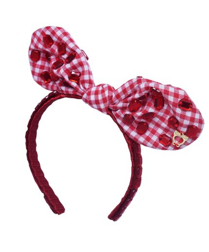 Baby Fancy Bunny Bow - Red