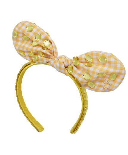 Baby Fancy Bunny Bow - Yellow
