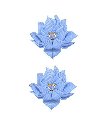 Baby Floral Clips - Bluebird