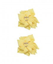 Baby Floral Clips - Lemon