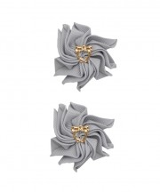 Baby Floral Clips - Light silver