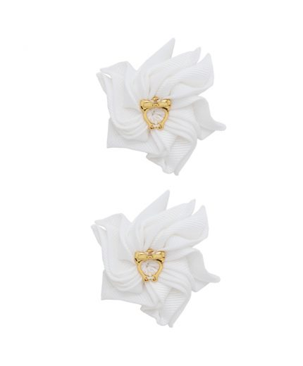 Baby Floral Clips - Off white