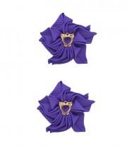 Baby Floral Clips - Regal purple