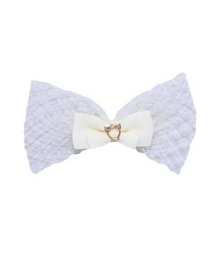 Baby Lolita Bow Clip - Candlelight