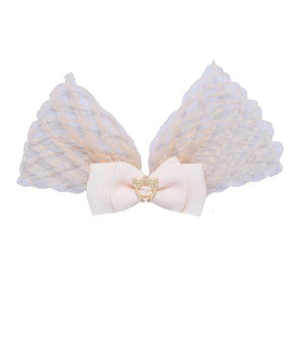 Baby Lolita Bow Clip - Cream