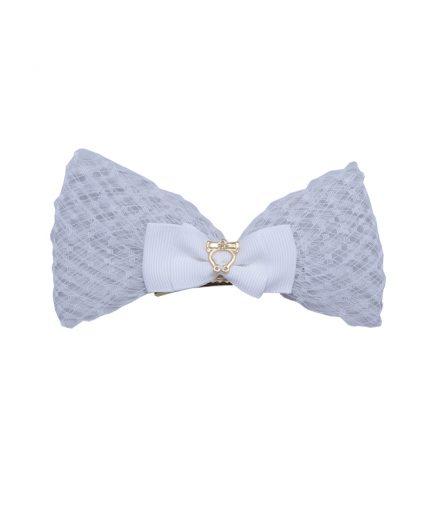 Baby Lolita Bow Clip - Offwhite