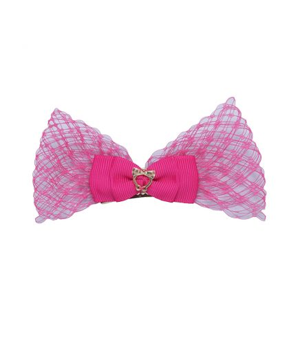 Baby Lolita Bow Clip - Shocking Pink