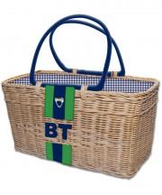 Monogram Basket - Navy2