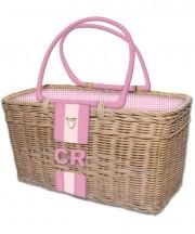 Monogram Basket - Pink2