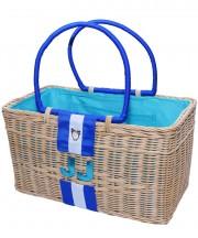 Monogram Basket - Aqua