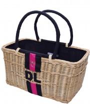 Monogram Basket - Black & Pink