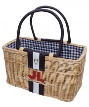 Monogram Basket - Black & White