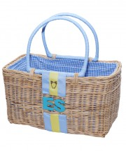 Monogram Basket - Bluebird