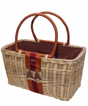 Monogram Basket - Brown