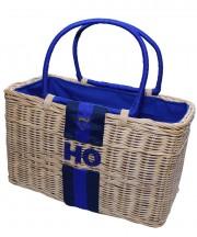 Monogram Basket - Navy & Blue