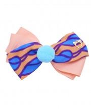Circus Bow Clip - Peach