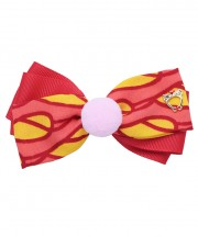 Circus Bow Clip - Red