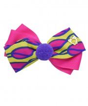 Circus Bow Clip - Shocking Pink