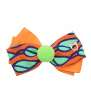 Circus Bow Clip - Tangerine
