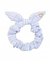 SS Scrunchies - Light Blue & White Stripe