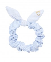 SS Scrunchies - Light Blue & White Stripe (Thin)