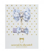 Easter Bow Clip Set - Grey